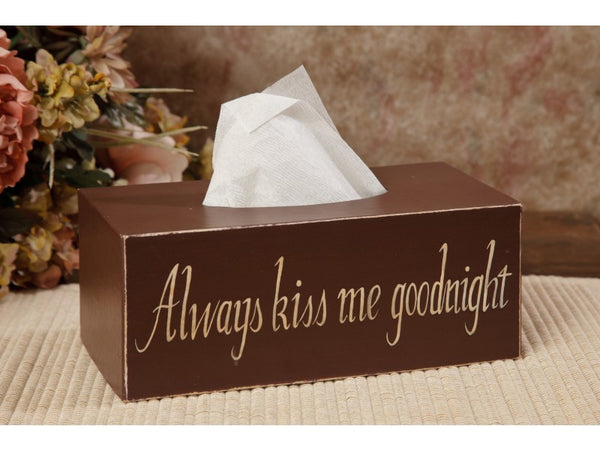 Tissue Box Cover - Always Kiss Me ...