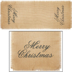 36 in. Christmas Burlap Runner
