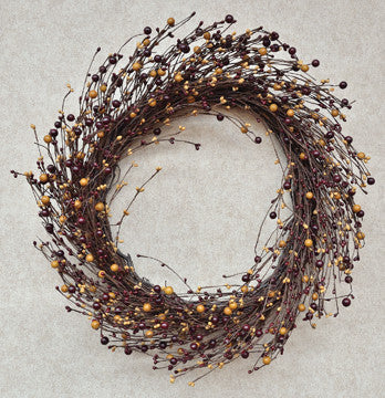 Burgundy/Gold Combo Wreath