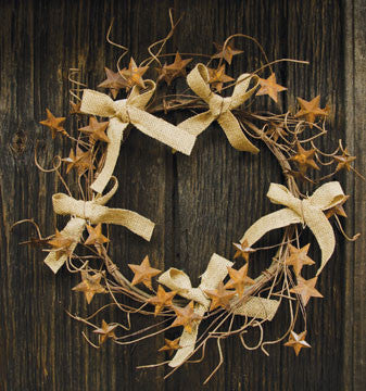 Bow & Star Wreath