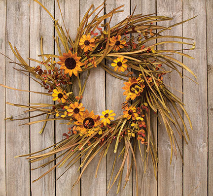 Grassy Sunflower Wreath
