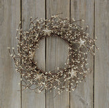 Holiday Pip Wreath w/Stars-Platinum