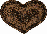 Braided Ebony Heart Rug