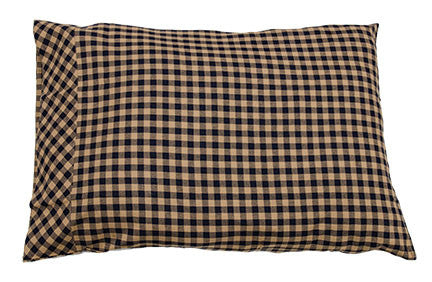 Navy Check Pillow Case, 2/set