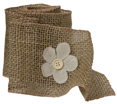 Burlap Flower Ribbon