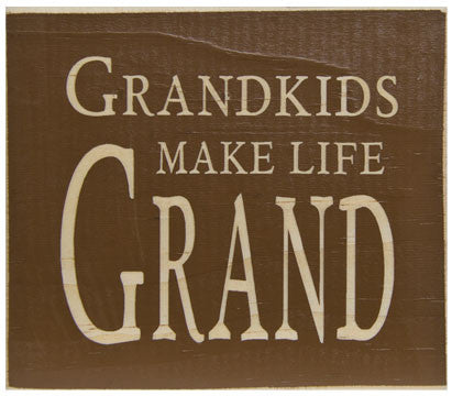 """Grandkids Make Life Grand"" Block"