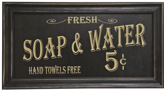 The Vintage Soap & Water sign