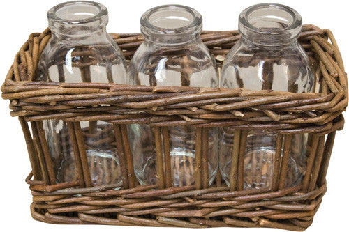 Willow Bottles w/ Basket