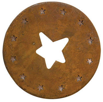 Rusty Candle Lid w/Stars