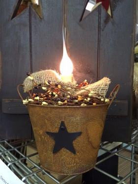 Primitive Electric Candle Bucket Light