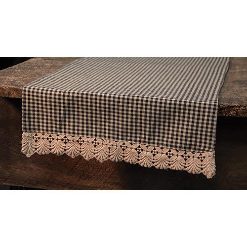 Ava Black Table Runner
