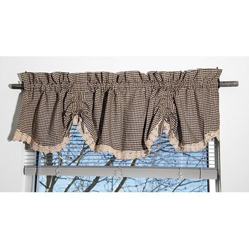 Ava Black Scalloped Valance