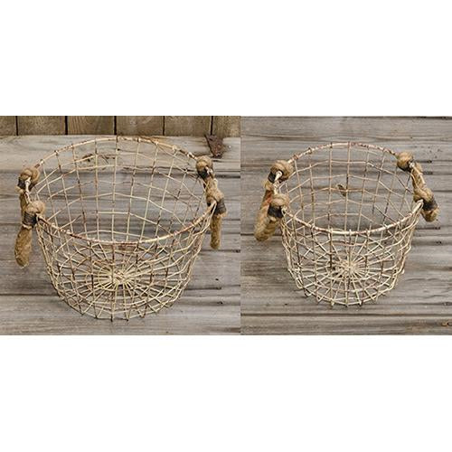 Baskets w/Rope Handles