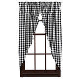 2/Set, Buffalo Black Check Prairie Curtains