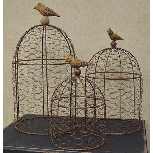 Wire Cloches - 3/set