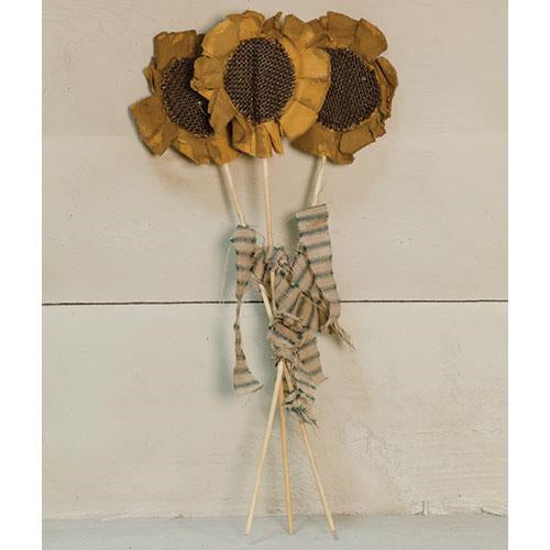 set of 3, flower stake 13""