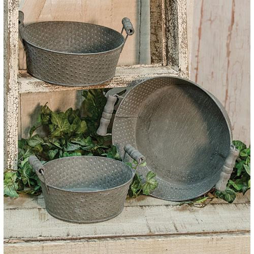 3/Set, Metal Pots w/Handles