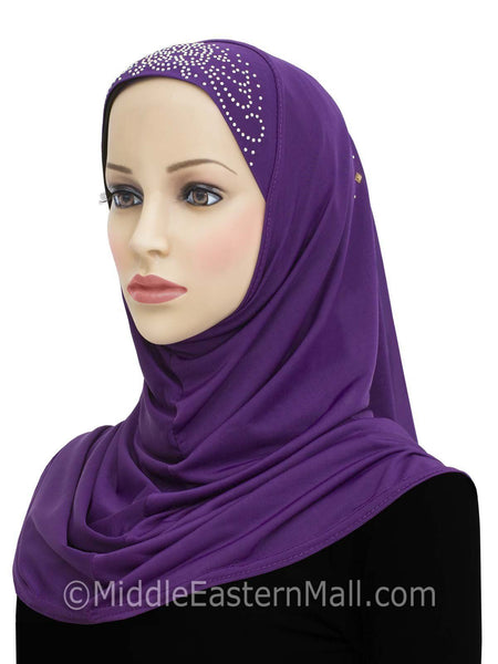 Wholesale set of 10 Aiyah Design 1 piece Lycra Amira Hijabs