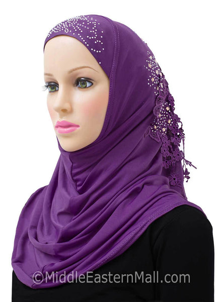Purple Amour Al-Amira Hijab Headscarf