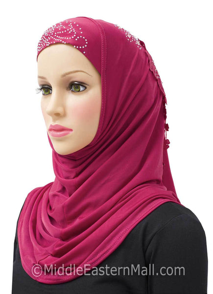 Hot pink Amour Al-Amira Hijab Headscarf