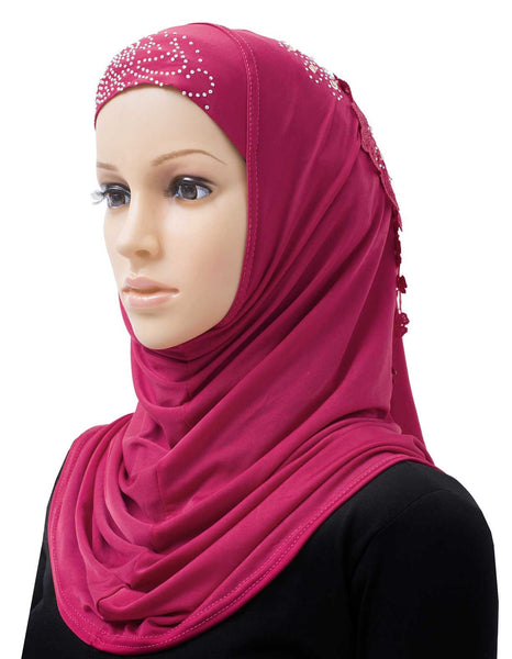 Wholesale set of 10 Amour Amira Hijab Headscarves in 10 Assorted Colors