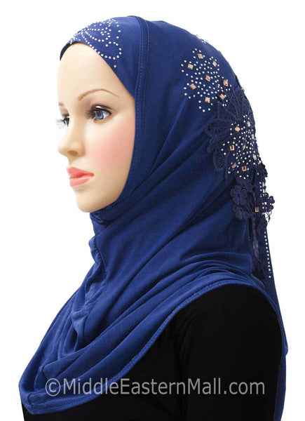 Royal Blue Amour Al-Amira Hijab Headscarf