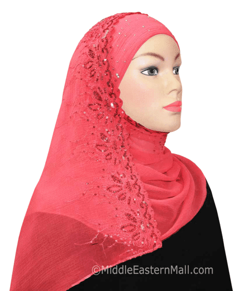 Hijab 2-in-1 Shawl with Sequins