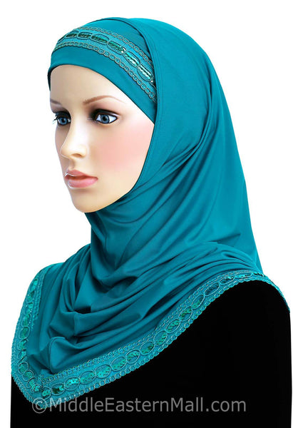 Khatib Luxor 2 piece Long Hijab Available in 8 Colors
