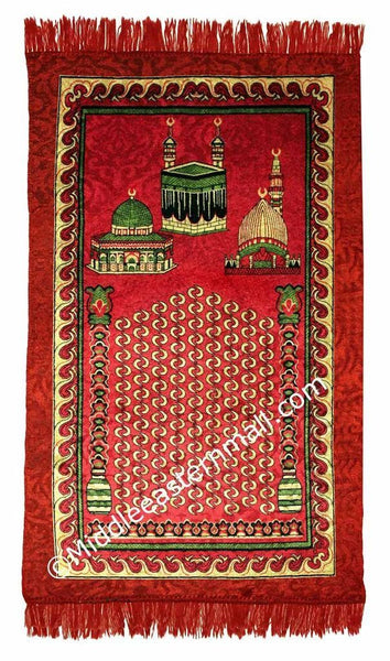 holy sites Prayer Rug in red