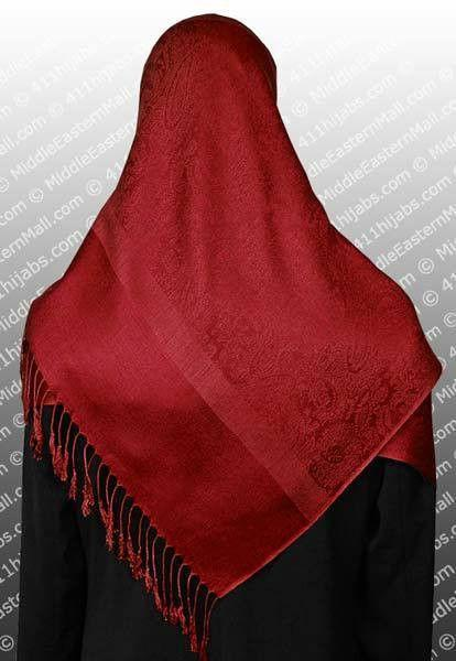 "Pashmina Shawls with Damask Paisley Pattern Large 75"" x 27"" Size"