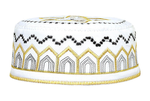 Men's Kufi with embroidery #6 - MiddleEasternMall