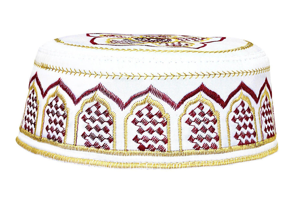 Men's Kufi with embroidery #7 - MiddleEasternMall
