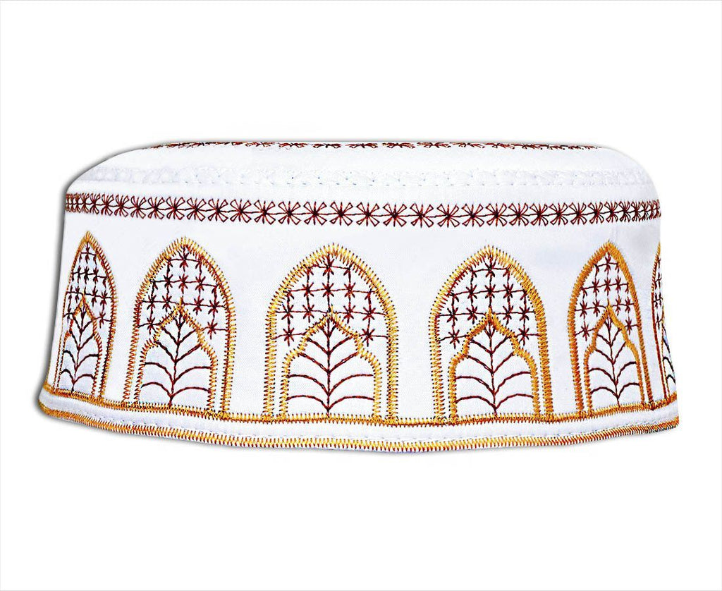 Men's Kufi with embroidery #9 - MiddleEasternMall