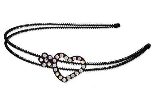 Flower & Heart Rhinestone Headband