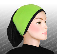 Lot of 18 Classic Poly Headbands in 7 Different Colors Black hijab cap is not included