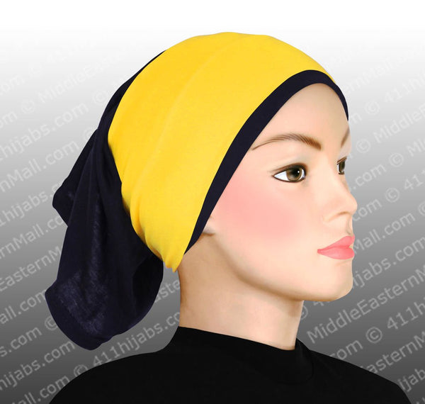 Wholesale One Dozen  Classic Poly Headbands in 10 Different Colors Black hijab cap is not included