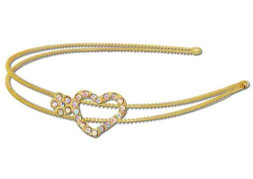 Flower & Heart Rhinestone Headband Choose from 3 Colors