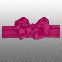 Wholesale one dozen of Headband with Grosgrain Bow in 3 Different Colors