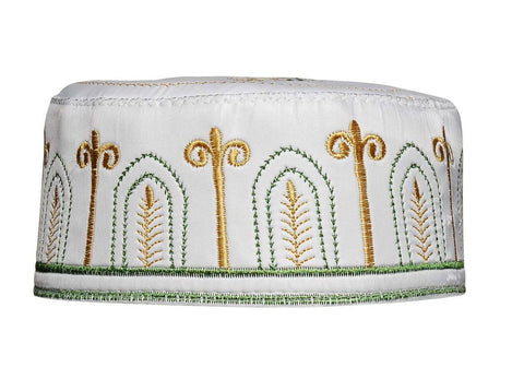 Men's Kufi with embroidery #4 - MiddleEasternMall