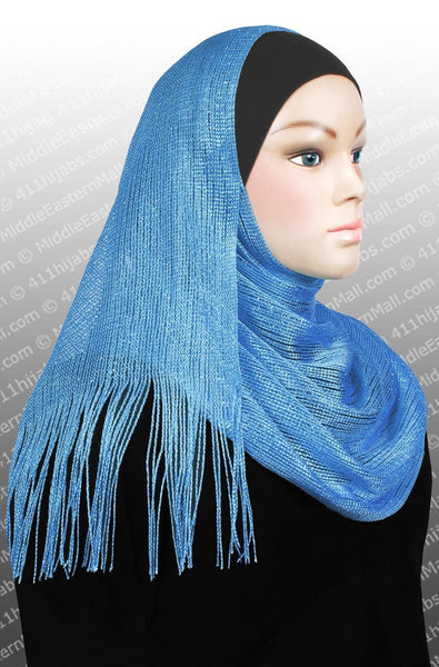 blue Noor Shawl Headscarf