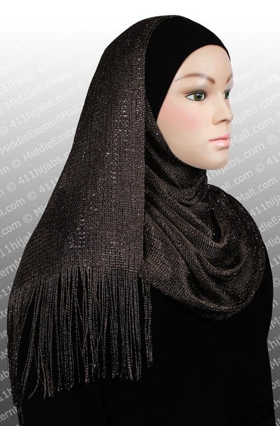 brown Noor Shawl Headscarf
