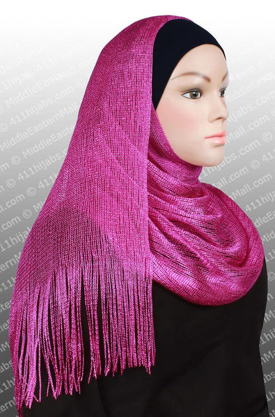 hot pink Noor Shawl Headscarf