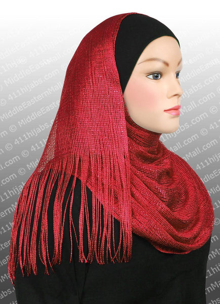 red Noor Shawl Headscarf