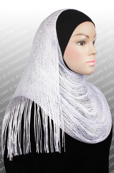 white Noor Shawl Hijab Headscarf
