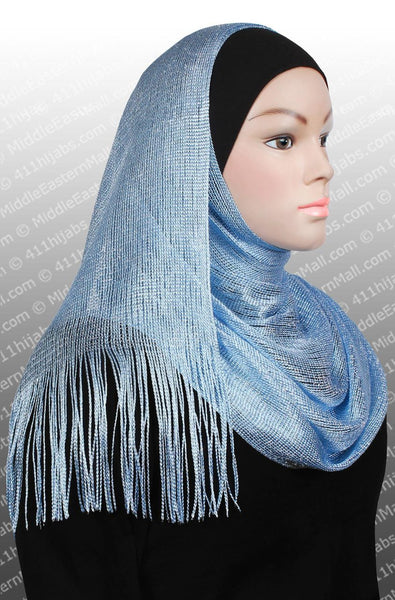blue Noor Shawl Hijab Headscarf