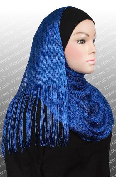 royal blue Hijab Noor Shawl Headscarf