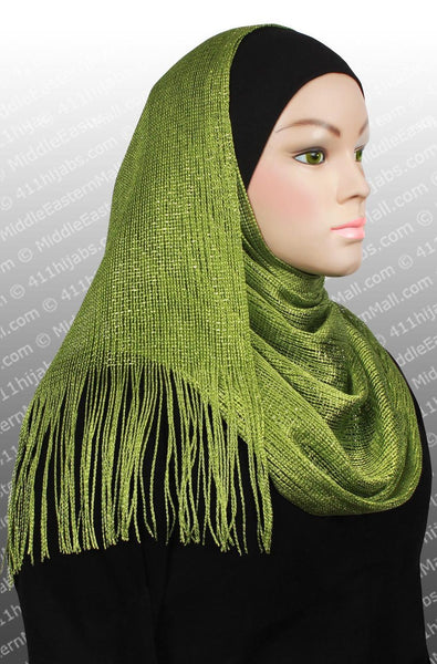 green hijab Noor Shawl Headscarf