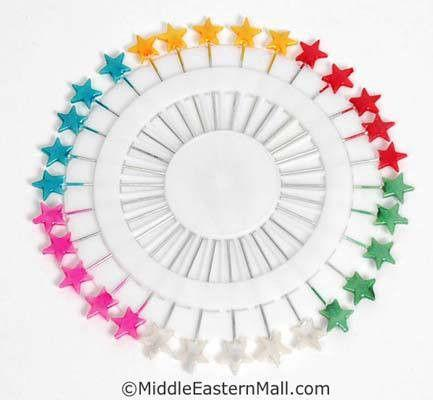 STAR Large Hijab Pins in Assorted Colors - MiddleEasternMall