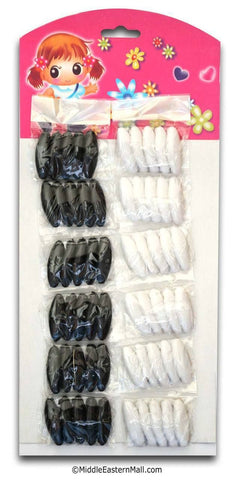 Wholesale Safety Hijab Pin - 60 Pin Set in Black & White - MiddleEasternMall