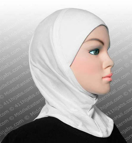 One Dozen Worry-Free Hijab Caps - All White - MiddleEasternMall